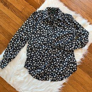Ralph Lauren B&W Floral Button up